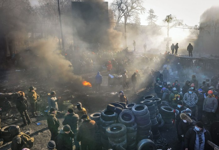 Anti government protests in Ukraine.