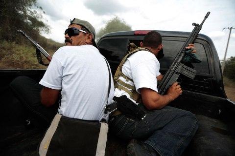 Vigilantes in Poturo, Michoacan