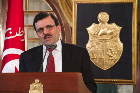 Tunisia's former Prime Minister Ali Larayedh at the presidential palace, in Carthage, Tunis, Tunisia, on Jan. 9, 2014.