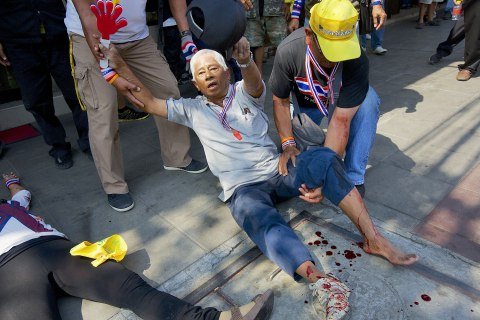 Thai Protestors Attempt To Topple Government With Bangkok Shutdown