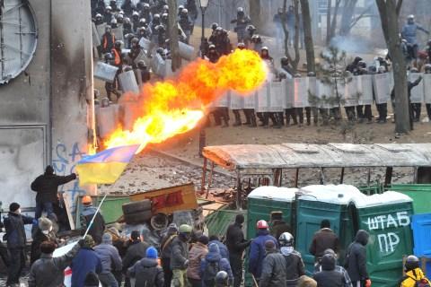Protests in Kiev turn violent