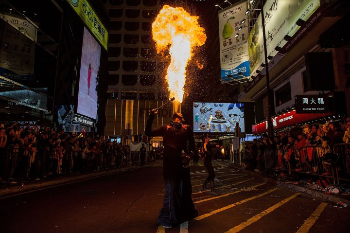 Chinese New Year Celebrated In Hong Kong