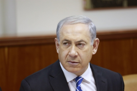 Israeli Prime Minister Benjamin Netanyahu chairs the weekly cabinet meeting at his office in Jerusalem, on Jan. 12, 2014.