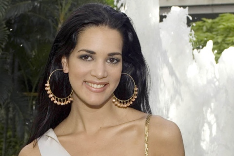 This May 23, 2005 file photo released by Miss Universe shows Monica Spear, Miss Venezuela 2005, posing for a portrait ahead of the Miss Universe competition in Bangkok, Thailand.