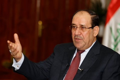 Iraq's Prime Minister Nuri al-Maliki speaks during an interview with Reuters in Baghdad, on Jan. 12, 2014.