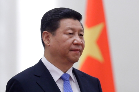 China's President Xi Jinping during a welcoming ceremony at the Great Hall of the People, in Beijing, Nov. 13, 2013.