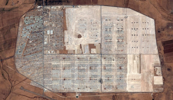 2012 Satellite Image of the Expansion of the Zaatari Refugee Camp, Jordan