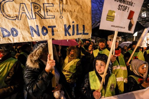 Protests against Belgian euthanasia law for terminally-ill children