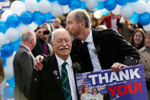 same-sex marriage outside the Scottish Parliament