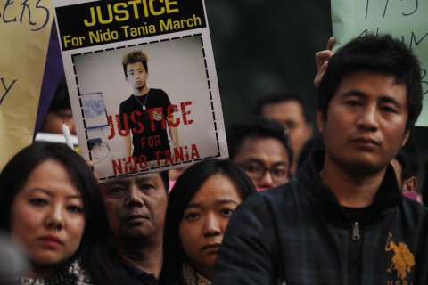 Northeast People Protest Over The Death Of Nido Taniam