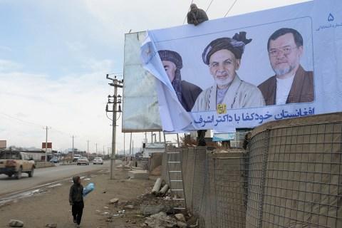 AFGHANISTAN-VOTE-POSTER