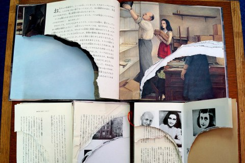 JAPAN-CRIME-VANDALISM-LIBRARY-HOLOCAUST