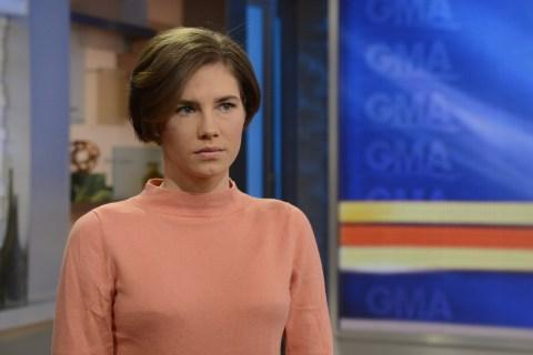 Amanda Knox on ABC's Good Morning America, on Jan. 1, 2014.