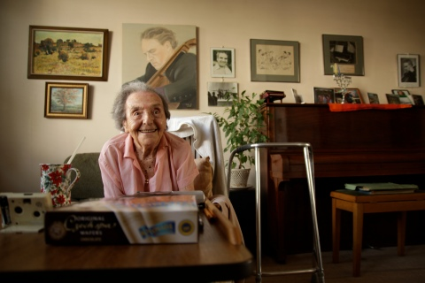 Alice Herz-Sommer, believed to be the oldest-known survivor of the Holocaust, who died in London on Sunday morning at the age of 110, in July 2010.