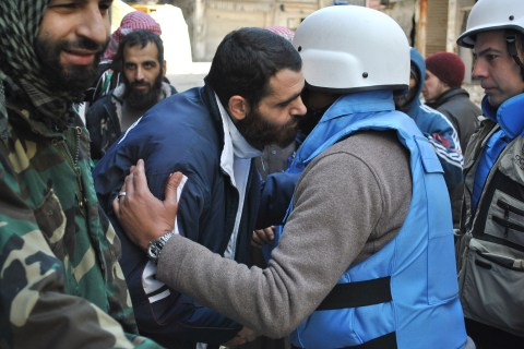 SYRIA-CONFLICT-HOMS-AID