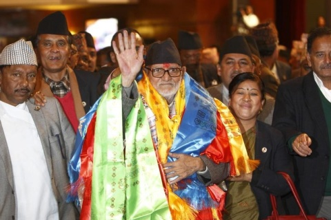 Newly elected Nepalese Prime Minister Sushil Koirala