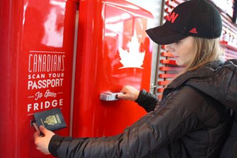 Canada Beer Fridge Sochi