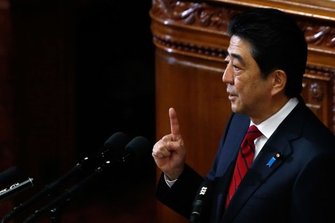 Japan's PM Abe makes policy speech during start of ordinary session at lower house of parliament in Tokyo