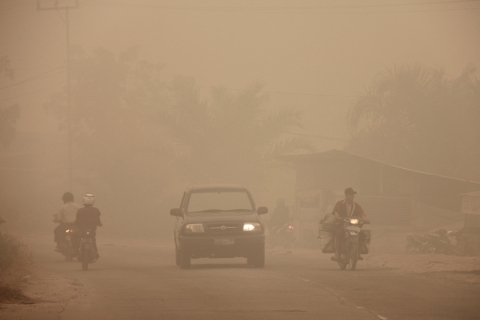 INDONESIA-HEALTH-ENVIRONMENT-HAZE