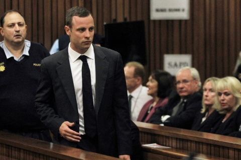 Pistorius arrives in court ahead of his trial in Pretoria
